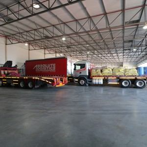 Road Freight Trucks and Warehouse