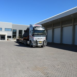 Road Freight Truck at Warehouse
